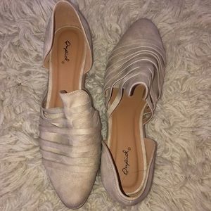 Qupid flats taupe color never worn